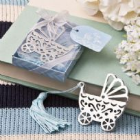 Baby Carriage Design Bookmark With Blue Tassel